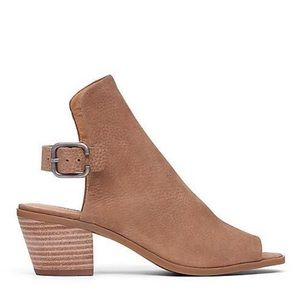 LUCKY BRAND Bray Peep Toe Suede Booties